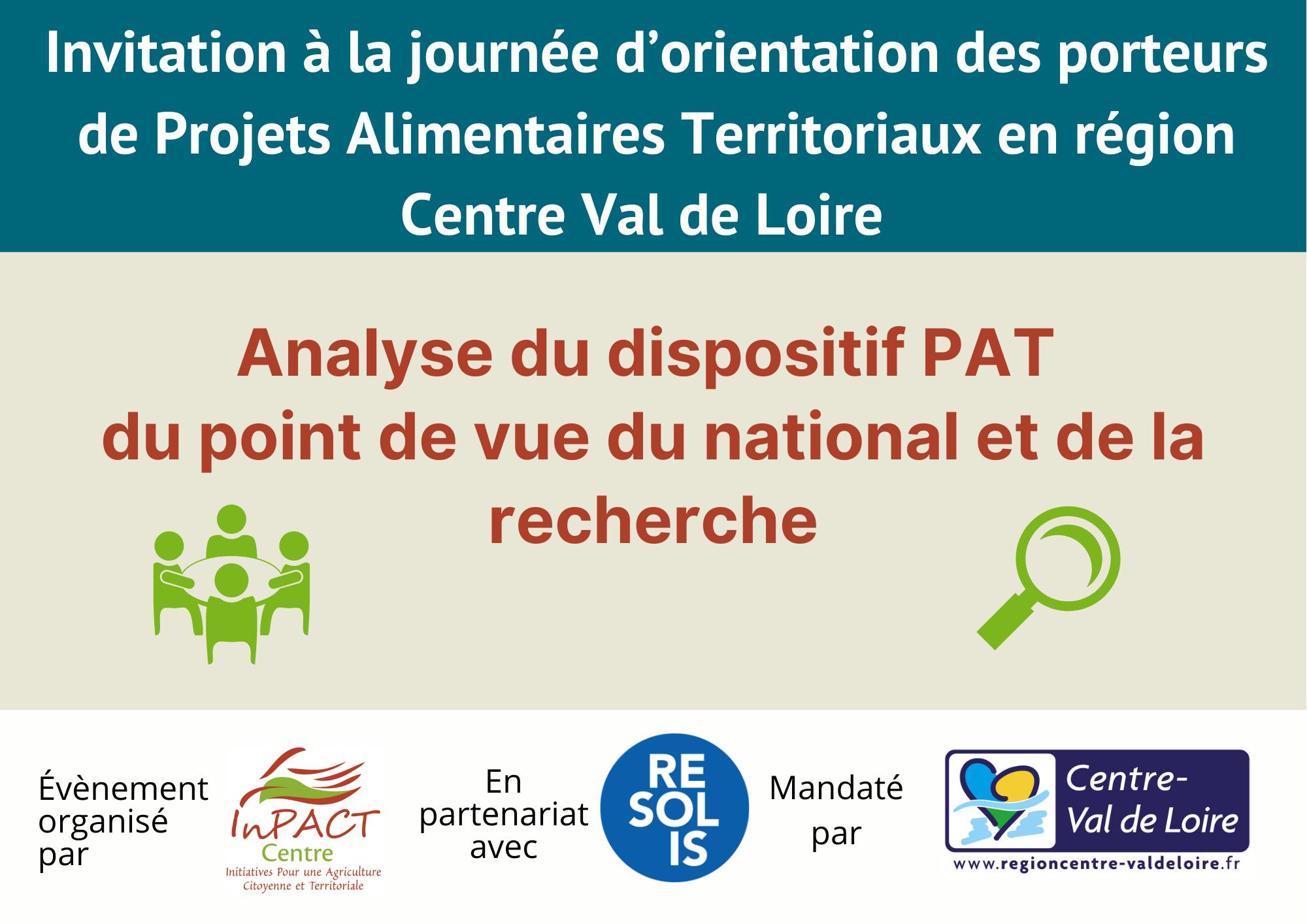 Journée d'Orientation de PAT - Analyse du dispositif PAT du point de vue du national et de la recherche