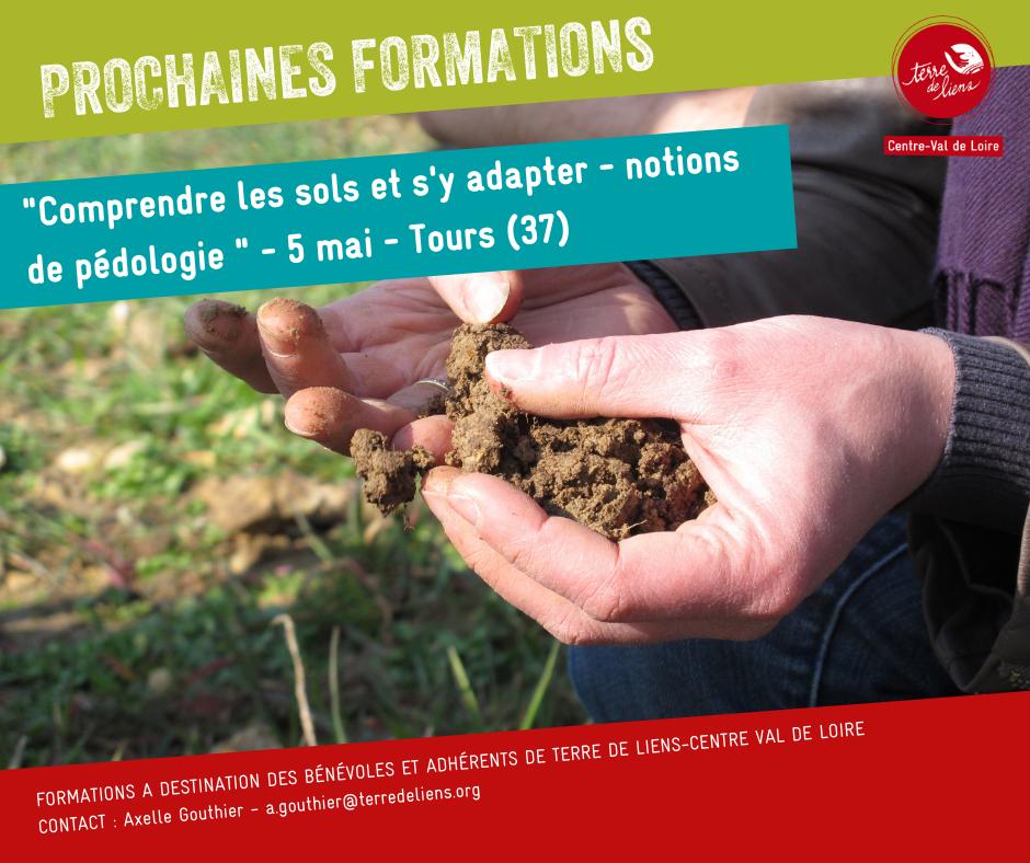 """Formation """"Comprendre les sols et s'y adapter - notions de pédologie"""""""