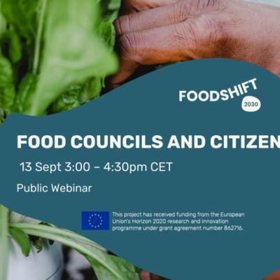 Webinar : food councils and citizens